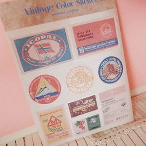 Vintage color sticker